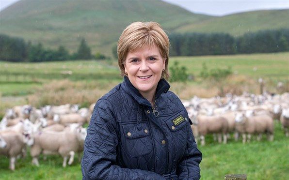 Nicola Sturgeon outdoors